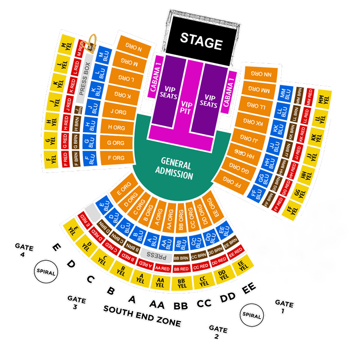 Stadium Ticketing Map